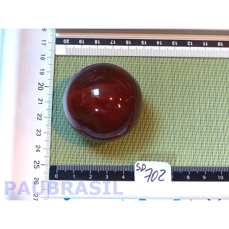 Sphère Cornaline 175g 50mm diamètre