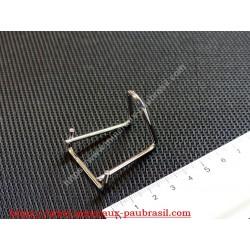 Chevalet métaliquel chromé pour supports de minéraux base 3cm
