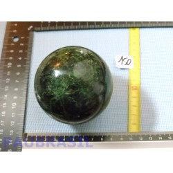 Sphère Jaspe Vert 513g 73mm diamètre