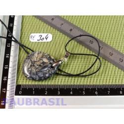 Pendentif Pinolite mini pierre plate 9gr
