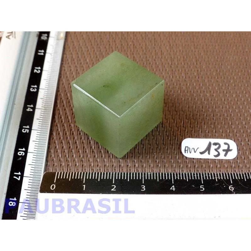 Cube poli en Aventurine Verte 32gr 23mm