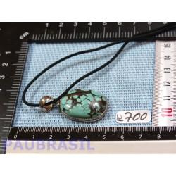 Pendentif Turquoise du Népal Cabochon Q Extra 8gr monture argent 925