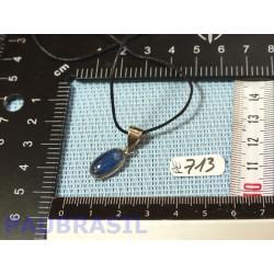 Pendentif Cyanite Cabochon Q Gemme 2gr50 monture argent 925