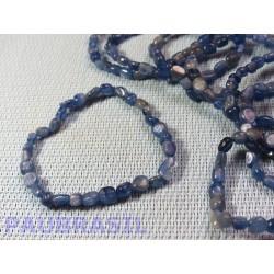 Bracelet Disthène - Cyanite bleue en mini pierres roulées Q Extra