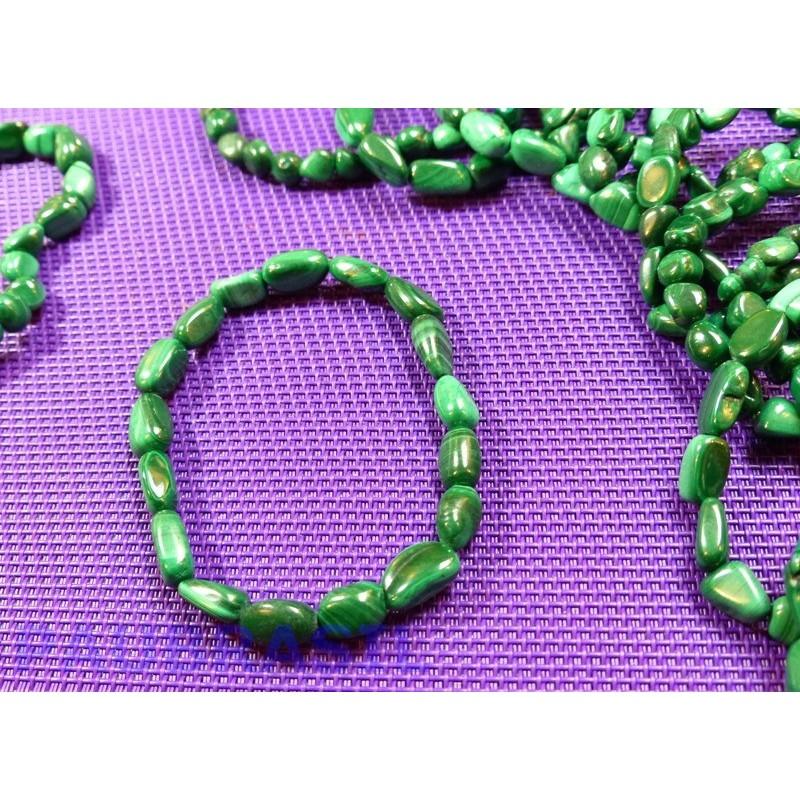 Bracelet Malachite en mini pierres roulées Q Extra