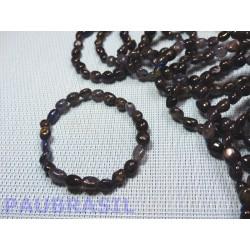 Bracelet Cordiérite-Iolite-Dichroïte en mini pierres roulées Q Extra