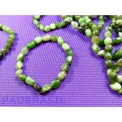 Bracelet Jade Néphrite en mini pierres roulées Q Extra
