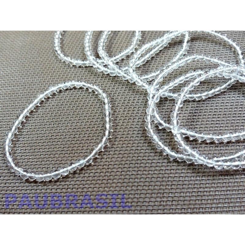 Bracelet en Cristal de Roche Q Extra en perles de 4mm