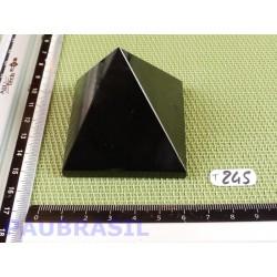 Pyramide en Tourmaline Noire Inde 173gr 55x54mm base qualité moyenne