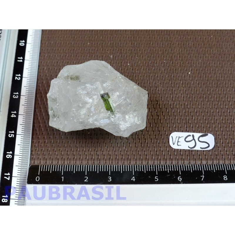 Tourmaline verte - verdélite et quartz de 55g