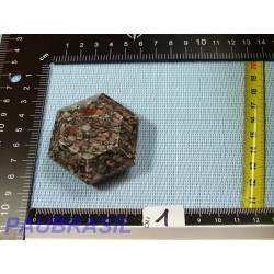 Jaspe à Fossiles facetté poli 95g