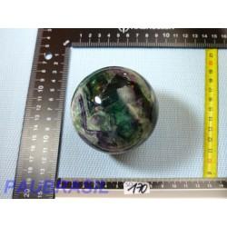 Sphère Fluorite Fluorine Multicolore Extra 570gr 70mm diamètre