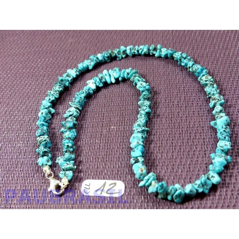 Collier baroque Turquoise de Sonora Mexique 44 cm Q Extra ++ .