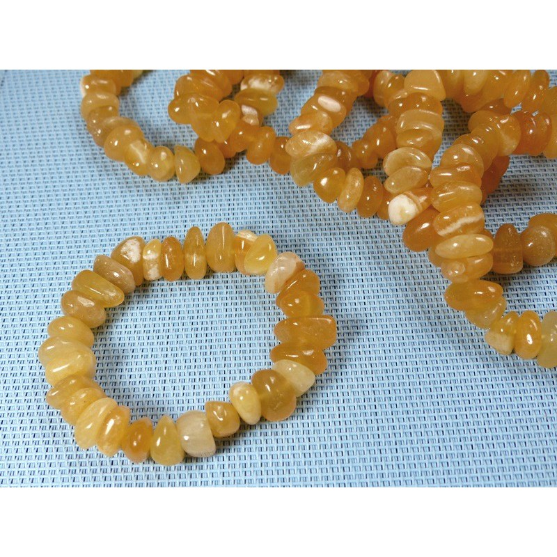 Bracelet baroque XL en Calcite Orange Extra