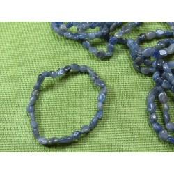 Bracelet Tanzanite en mini pierres roulées Q Extra