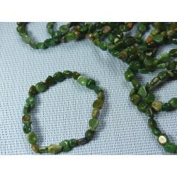Bracelet Budstone - Buddstone - Quartz Prase en mini pierres roulées Q Extra