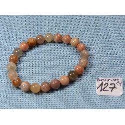 Bracelet Pierre de lune Orthose en perles de 8mm