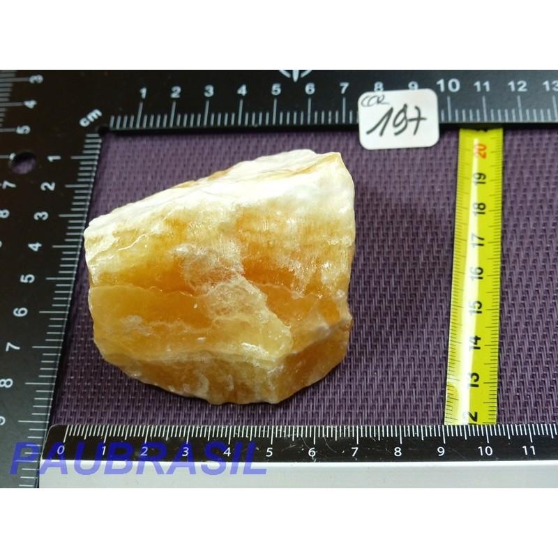 Calcite Orange en Pierre Brute 224gr