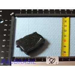 Spécularite Hématite Q Extra Tranche  une face polie vernie 43gr