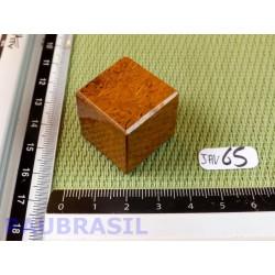 Cube poli en Jaspe Vermicelle -  Jaspe Marianne Q Extra 34g 23mm