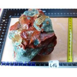 Apatite Bleue et Jaspe Rouge en pierre brute 1228g pièce rare