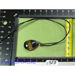 Pendentif Fluorite Multicolore Q Extra 6gr monture argent 925