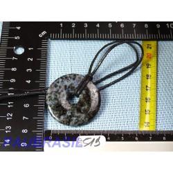 Pi Donut pendentif en Gabbro Merlinite de 4cm