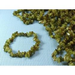 Bracelet baroque en Grenat vert Grossulaire du Mali Q Extra