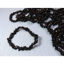 Bracelet baroque en Spinelle noir