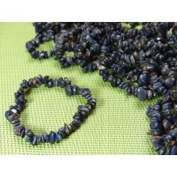 Bracelet baroque en Corindon bleu - Saphir Q Extra
