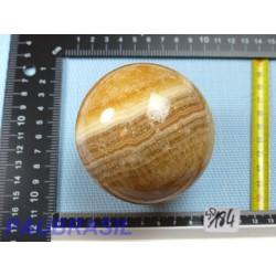 Sphère en Aragonite Zonée  646gr 77mm diamètre