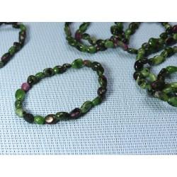 Bracelet Rubis Zoisite en mini pierres roulées Q Extra