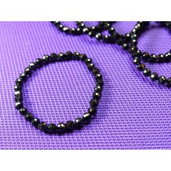 Bracelet Spinelle noir en perles facettées de 6mm