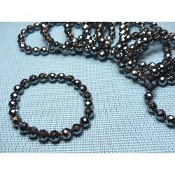 Bracelet Silicium en perles facettées de 8mm