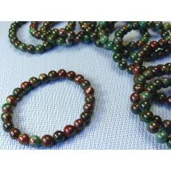 Bracelet Cuprite Chrysocolle ou Sonora Sunrise qualité Extra en perles de 8mm