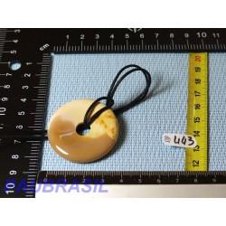 Pi Donut pendentif en Jaspe Mokaïte de 4 cm