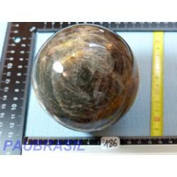Sphère Pierre de lune noire Orthose  1129g 94mm diamètre