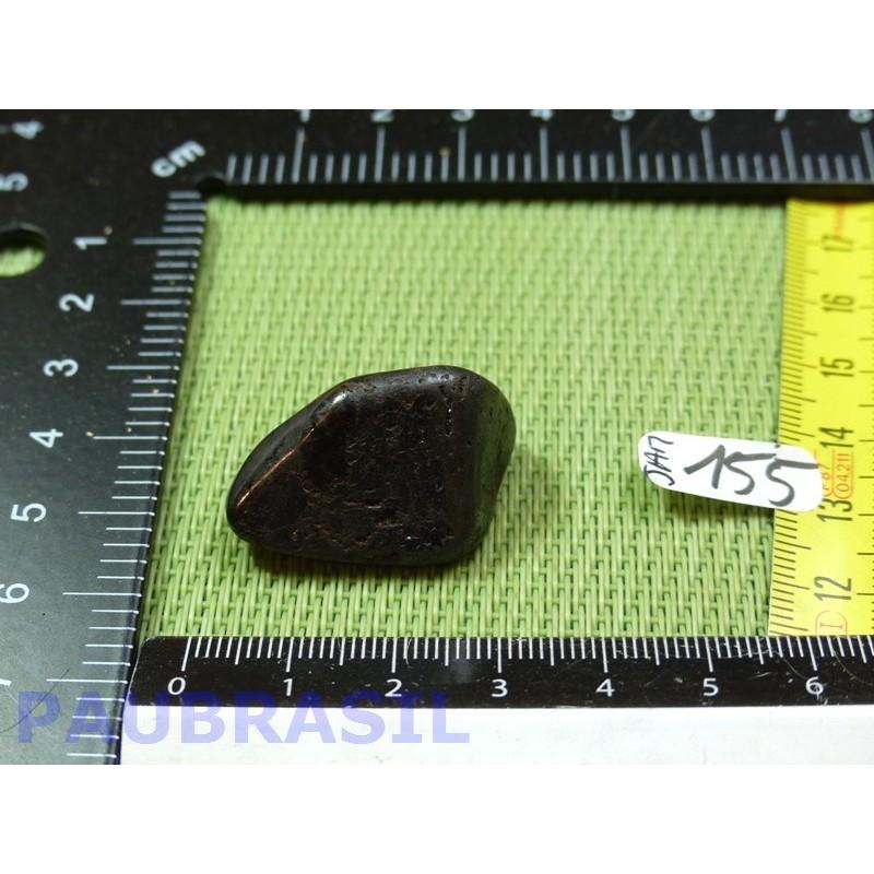 Jade magnétite ou jade noir pierre roulée de 18g