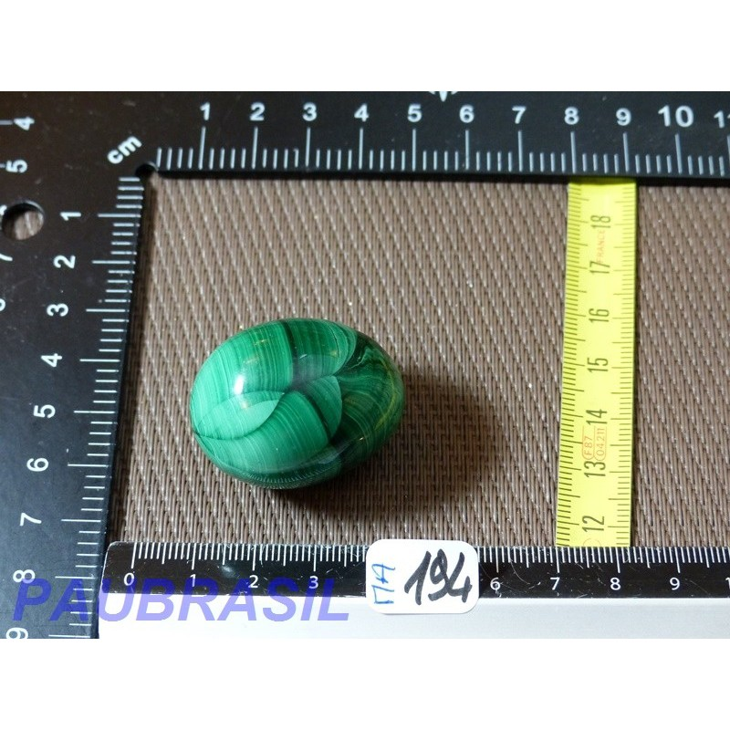 Oeuf MALACHITE Q Extra 57g 28mm diam 36mm long
