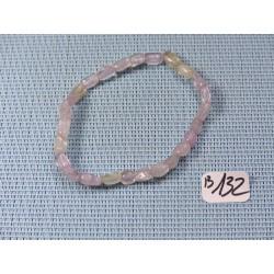Bracelet Kunzite claire en mini pierres roulées Q Extra