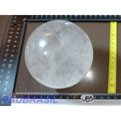 Sphere en Cristal de Roche 944gr 86mm diam Q Extra