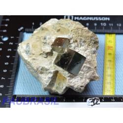 Pyrites cubiques sur macle Q Extra 426g