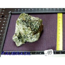 Epidote et Quartz pierre brute sur macle 268gr