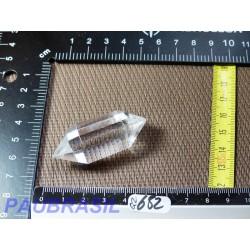 Pointe biterminée en Cristal de Roche polie 27g qualité Extra