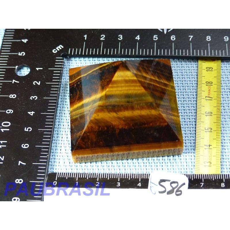 Pyramide en Oeil de Tigre Q Extra 171gr base 54 x 54mm