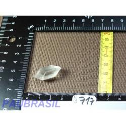 Pointe biterminée en cristal de roche Q Extra  pour lithothérapie 5g