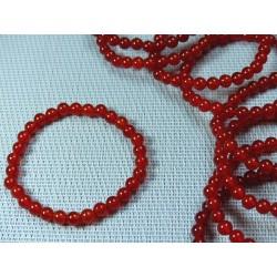 Bracelet Cornaline en perles de 6mm