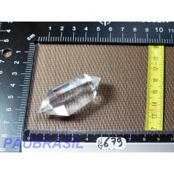 Pointe biterminée en Cristal de Roche polie 33g qualité Extra