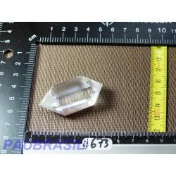 Pointe biterminée en Cristal de Roche polie 24g qualité Extra