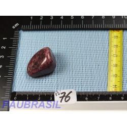 Rubellite tourmaline rose Brésil pierre roulée Q Extra 21gr